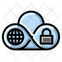 Global Cloud Security Icon