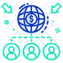 Global Collaboration Global Network Global Connection Icon