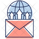 Global Communication Business Email Online Messaging Icon
