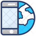 Global Call International Call Worldwide Communication Icon