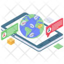 Global Communication Worldwide Communication International Network Icon