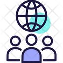 Global Communication Global Network International Communication Icon