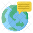 Global Communication Global Messaging World Messaging Icon