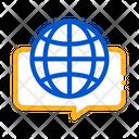 Earth Globe Quote Icon