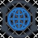 Communication Global Worldwide Icon