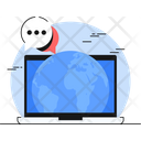 Global Communication Global Community Global Connection Icon