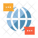 Global Communication Chatting Icon