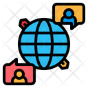 Communications Global Network Icon
