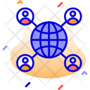 Global Communication Globe Communication Icon