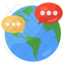 Global Communication Global Conversation Global Chat Icon