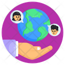 Global Chat Global Team Global Communication Icon