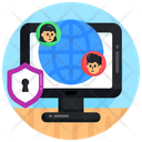 Cyber Communication Global Communication Global Connect Icon
