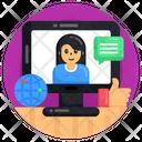 Online Communication Global Communication Online Conversation Icon