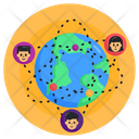 Global Networking Global Communication Global Connection Icon