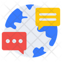 Global Communication Global Chat Global Message Icon