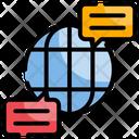 Global Communication International Communication Bubble Icon