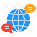 Global Communication Worldwide Network Connection Icon