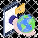 World Communication Global Communication Internet Communication Icon