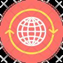Global Communication Global Network Online Media Icon