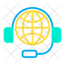 Global Glob Communication Icon