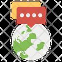 Global Communication Worldwide Communication Communication Channel Icon