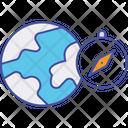 Global Compass World Compass World Navigation Icon