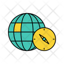 Airplane Around The World Globe Icon