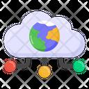 Cloud Computing Global Computing Global Hosting Icon