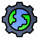 Labour Day World Gear Icon