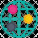 Global Connect Cyberspace Worldwide Network Icon