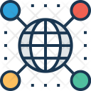 Global Connection Map Icon