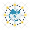 Global Connection Network Icon