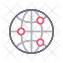 Global Connection World Icon