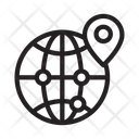 Map Global Connection Icon