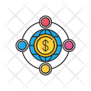 Dollar Global Connection Icon