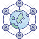 Communication Network Earth Stations Global Internet Icon