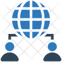 Global Connection Global Netwrok Worldwide Connection Icon