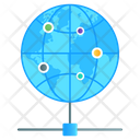 Shared Network Global Connection Worldwide Connection Icon