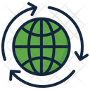 Global Connection Global Network World Icon