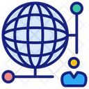 Global Connection Earth Global Business Icon