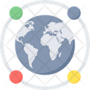 Global Connection International Network Cloud System Icon