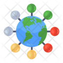 Global Network Global Connections International Connections Icon