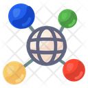 Global Network Global Connections Networking Icon