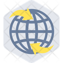 Global Connectivity Worldwide Network Network Sharing Icon