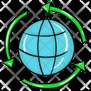 Global Energy Energy Cycle Global Recycling Icon
