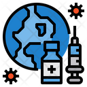 Global Corona Vaccine Coronavirus Medicine Icon