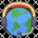 Global Helpline Global Hotline Global Customer Service Icon