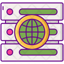 Data Network Network Server Network Database Icon