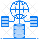 Global Data Data Storage Worldwide Data Icon