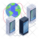 Global Servers Global Storage Global Data Centers Icon